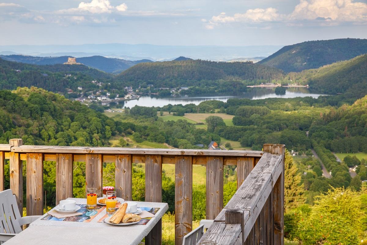 restaurant du camping avec vue sur la vallée