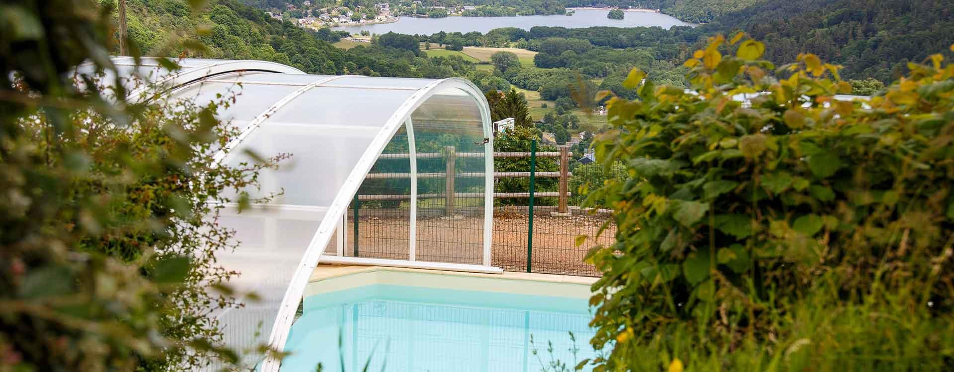 piscine du camping en Auvergne